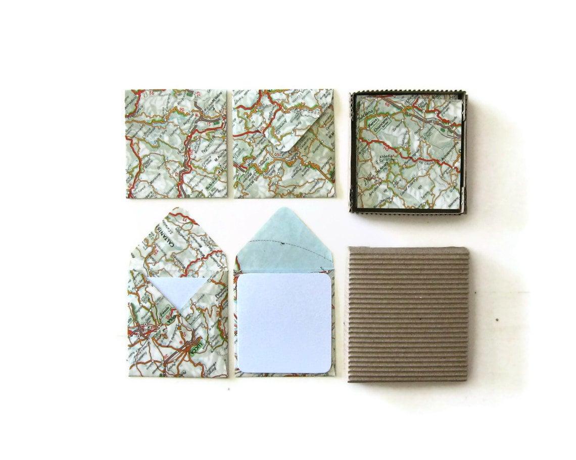 Map Mini Stationery Set By Ciaffi On Etsy