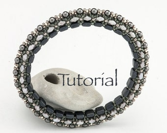 Beadwoven Bracelet Tutorial Magic Bangle (advanced) Digital Download