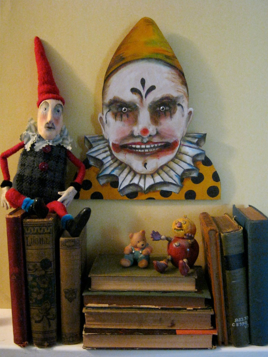 Evil Clowns Sampler | Sunday Postcard Art |Creepy Clown Painting