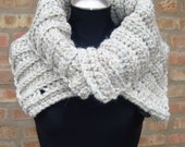 Creme Cowl - Crochet Scarf - Neckwarmer From KnottyLoop