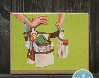 Mommy Tool Belt -- Mommy / Mother's Day / New Mom card from The Nic Studio