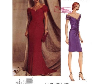Dramatic Belleville Sassoon evening gown Brides Mother of the Bride Wedding party cocktail dress sewing pattern Vogue 2608 Sz 14 to 18