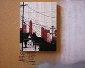 Dark City no.3 - Los Angeles - MOUNTED 9 x 12 print