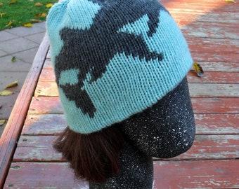 Dolphin Splash Double Knit Hat Pattern