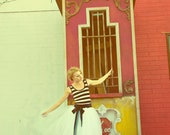 Striped Party Dress with Tulle Skirt - Cirque by Ouma