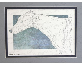 Greyhound Papercutting Art, Handcut Original