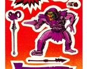 Vintage 1984 Masters of the Universe Skeletor Large Sticker Mod