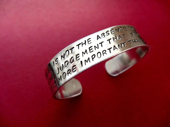 Personalized Bracelet - Custom Cuff - Thick 1/2 inch Aluminum Hand Stamped Cuff Bracelet