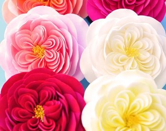 COUTURE CLAY - Made to Order  Heirloom Rose Hair Flowers (6 colors to choose from)