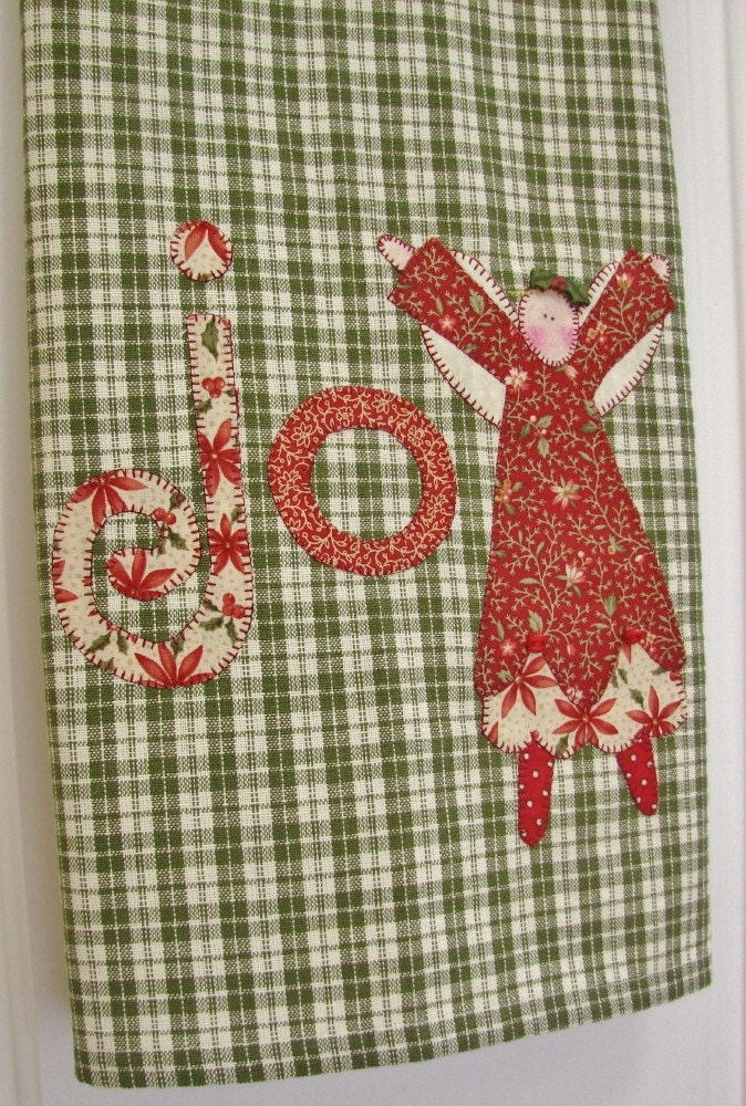 Christmas Tea Towel Dish Towel Kitchen Towel Joyful Angel