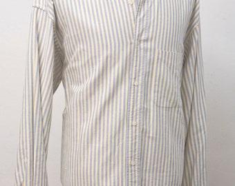 Men's Shirt / Vintage Striped Oxford by Banana Republic / Size Large XL
