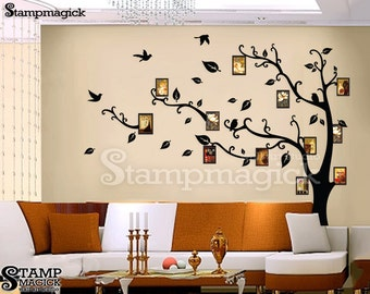 Photo Tree Wall Decal - Photo Tree Wall Sticker wall mural home decor graphics - K077
