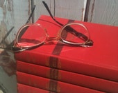 SALE,Table Setting,Red Wedding,Pantone 2013 Color, Poppy Red,Centerpiece,Poetry Books,Ogden Nash,