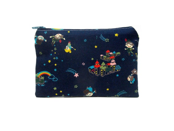 LAST ONE Mini Zipper Pouch / Cute Camera Bag With Peter Pan to Neverland