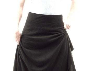 Irene ~ Long Wrap Skirt ~ Hemp & Organic Cotton ~ Made to Order