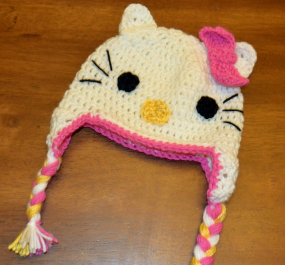 Free Crochet Pattern For A Hello Kitty Hat : Unavailable Listing on Etsy