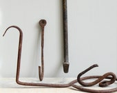Vintage Industrial Wreath Hanger  / Hook, Towel Rack, Hay Hook