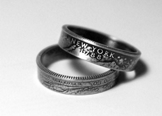 New York State Quarter Ring - Pick your size