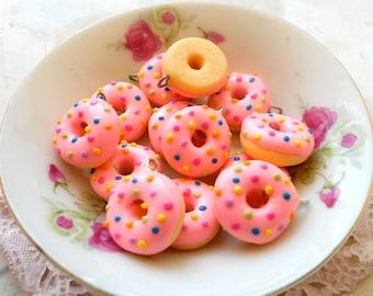 6pcs Donut Colored Sprinkler Collection - Pink