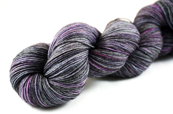 Amy's Punky Plum--hand dyed sock yarn, BFL and nylon, (464yds/100gm)