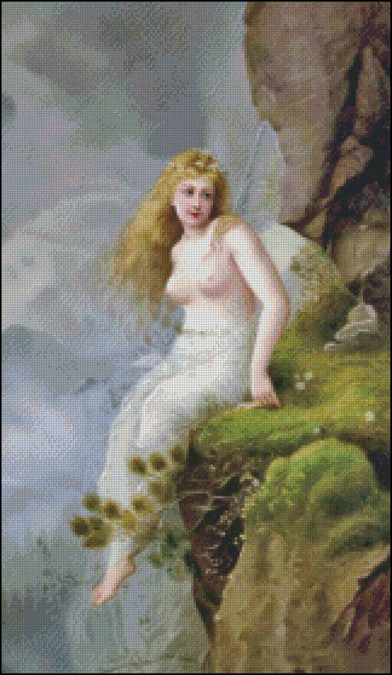 Fairy SITTING On The STONE Edge cross stitch pattern No.188