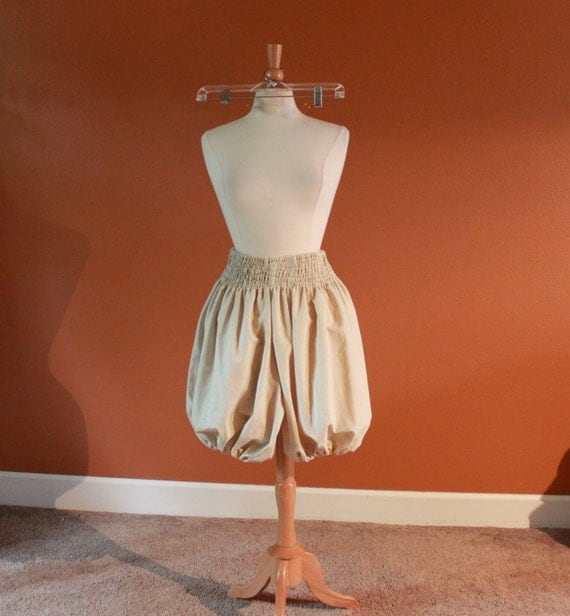 SALE was 70 ready to ship one of the kind shirred waist cotton balloon shorts