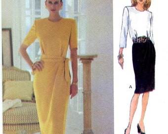Vogue 8694 Easy Dress and Sash Scarf Size 18 20 22 UNCUT Vintage Sewing Pattern 1993