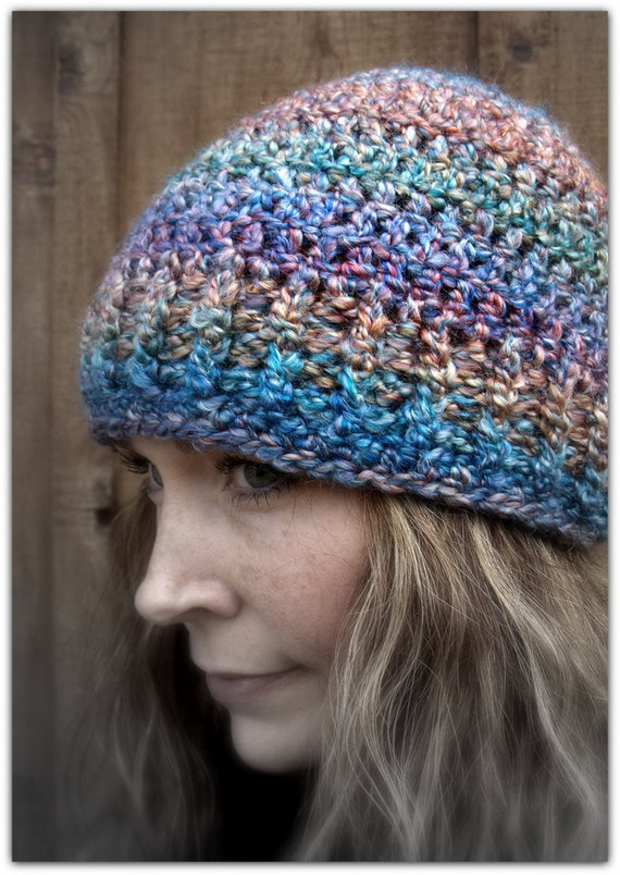 Kufi Beanie Hat Crochet Pattern : Multi Color Crochet Kufi Hat by LoveDesignsBoutique on Etsy