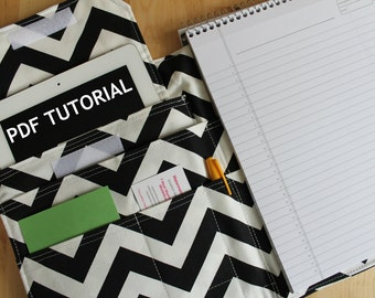 "PDF Tutorial --- Watermelon Wishes Portfolio Pad Organizer 8.5"" x 11"" Notebook"