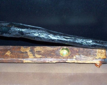 Leather Headmaster's Wand -- DEFINITELY One of a Kind  13 Inches