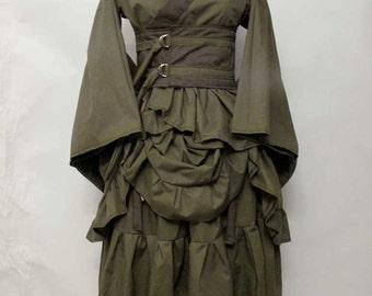 Bustled Kimono Set