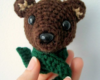PATTERN Brown Bear Amigurumi Ornament - Babysafe, Unbreakable - Instant Download by lostsentiments
