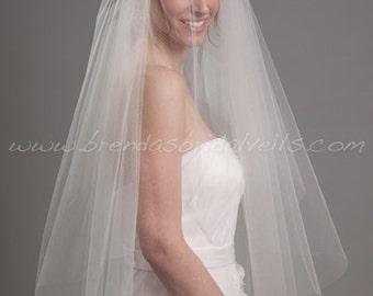 Bridal Veil, Double Layer Wedding Veil - Morgan