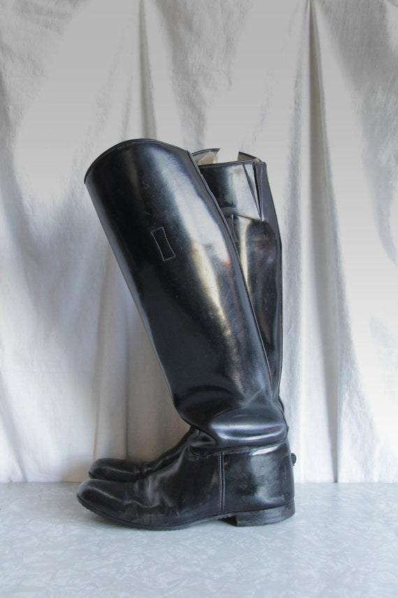 RESERVED ..... Vintage Riding Boots. motorcycle. equestrian