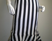 Synthetic Soul HALLUCINATORIUM Black and White Striped Bustle Skirt Gothic Rockabilly Steampunk