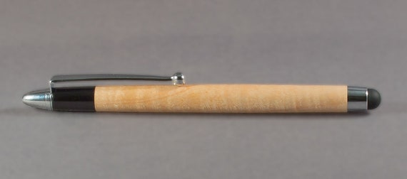 Curly Maple Stylus Handcrafted for iPhone iPad Droid Tablet Smartphone Kindle Nook