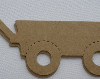 4 WAGON -   Raw Alterable CHiPBOARD Bare Die Cuts