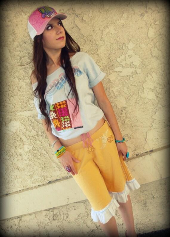 LOVE Hippie Vintage Long Bloomer Sweat Shorts