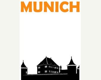 Munich Poster (12x18 / 13x19) Munich Germany Art Poster