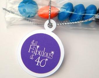 40th Birthday Candy Treat Bag Favors - Purple, Still Fabulous at 40