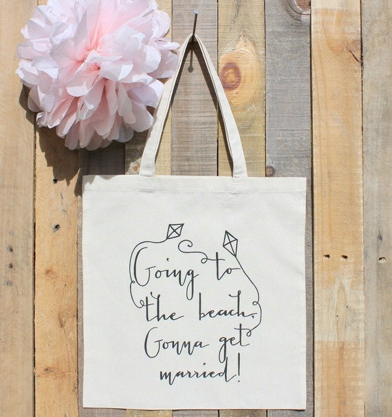Beach Wedding Theme Welcome Tote Bag