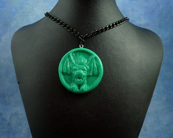 "Jade ""the Hound"" Necklace, Polymer Clay Jewelry"
