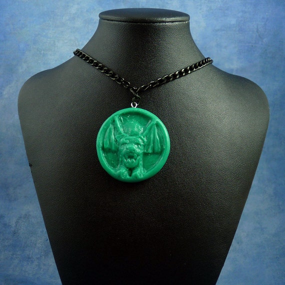 "Jade ""the Hound"" Necklace, Polymer Clay Jewelry"