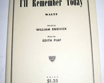 Vintage (1957) Music - Orchestration for I'll Remember Today - for Altered Art, Crafts
