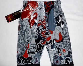 New Limited Punk Rock Tattoo Black Dragon Baby Boy Girl  Pants Size  3m - 6m  ON SALE