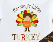 Thanksgiving shirt - mommy's little turkey adorable personalized thanksgiving tshirt