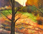 Fall Landscape, Large Oil Painting on Canvas, Original Painting