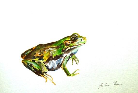 Original Watercolor- A Frog