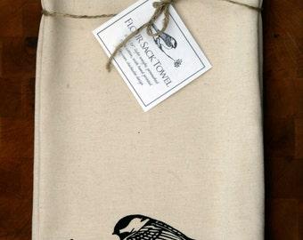 Chickadee Flour Sack Towel