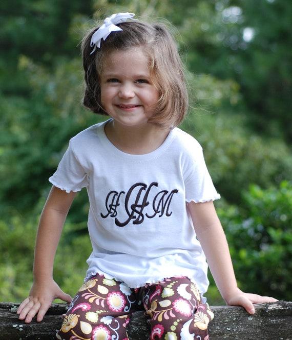 Build Your Own Monogrammed Tshirt - Girls Short Sleeved